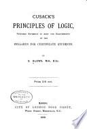 Cusack s Principles of Logic