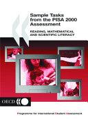 Sample tasks from the PISA 2000 assessment