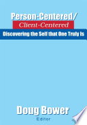 Person Centered Client Centered Book