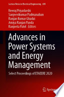 Advances in Power Systems and Energy Management