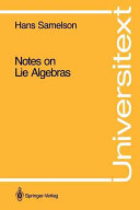 Cover of Notes on Lie algebras