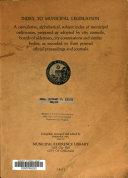 Index To Municipal Legislation