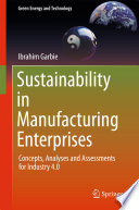 Sustainability in Manufacturing Enterprises