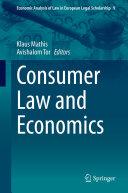 Consumer Law and Economics