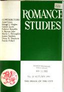 Pdf Romance Studies