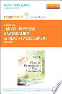 Physical Examination and Health Assessment Pageburst E-book on Vitalsource Retail Access Card