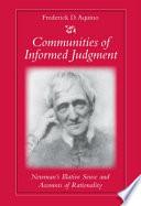 Communities of Informed Judgment