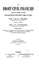 Le droit civil français: une table générale des matières