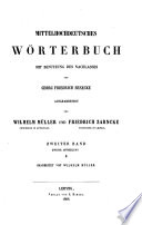 Mittelhochdeutsches Wörterbuch: bd., 1.abth. M-R. Bearb. von Friedrich Zarncke, 1863
