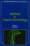 Methods in Aquatic Bacteriology Book