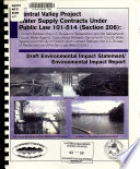 Central Valley Project Water Supply Contracts Under Public Law 101 514  Section 206   No specific title Book PDF