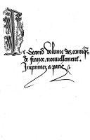 Le premier volume de grans cronigs de Françe ...