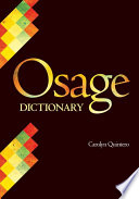 Osage Dictionary