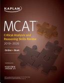 MCAT Critical Analysis and Reasoning Skills Review 2019 2020