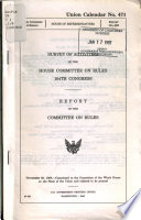 Survey of Activities of the House Committee on Rules  104th Congress Book