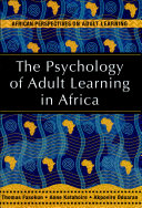Pdf The Psychology of Adult Learning in Africa