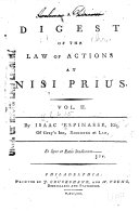 A Digest of the Law of Actions at Nisi Prius