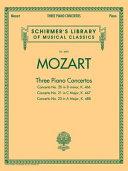 Wolfgang Amadeus Mozart Three Piano Concertos