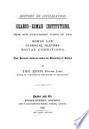 Graeco Roman Institutions Book