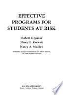 Effective programs for students at risk