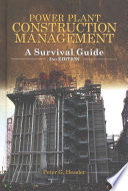 Power Plant Construction Management 2nd Edition Book PDF