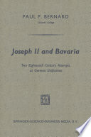 Joseph II and Bavaria
