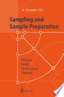 Sampling And Sample Preparation Book PDF