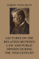 Lectures on the Relation between Law and Public Opinion during the 19th Century Pdf/ePub eBook