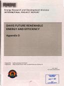 Davis Future Renewable Energy and Efficiency