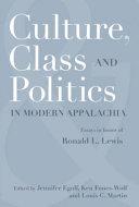 Culture Class And Politics In Modern Appalachia