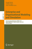 Enterprise and Organizational Modeling and Simulation