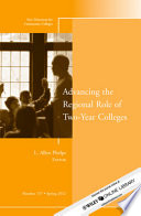 Advancing the Regional Role of Two-Year Colleges