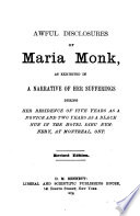 Awful Disclosures Of Maria Monk