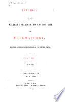 Liturgy of the Ancient and Accepted Scottish Rite of Freemasonry: IV to XIV