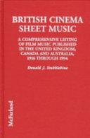 British Cinema Sheet Music Book