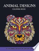 Animal Designs Coloring Book Book