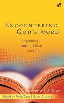 Encountering God S Word