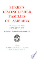 Burke's Distinguished Families of America