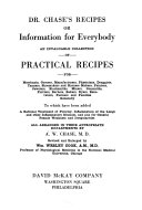 Dr  Chase s Recipes