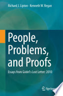 People  Problems  and Proofs Book