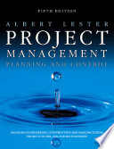 Project Management  Planning and Control Book