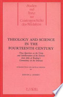 Theology And Science In The Fourteenth Century