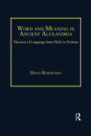 Word and Meaning in Ancient Alexandria Pdf/ePub eBook