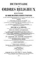 Dictionnaire des ordres religieux