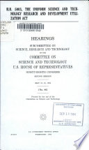 H R  5003  the Uniform Science and Technology Research and Development Utilization Act