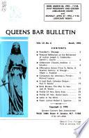 Queens Bar Bulletin  , Band 55