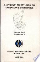 A Citizen S Report Card On Karnataka S Governance