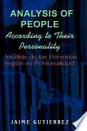 Analysis Of People According To Their Personality Book