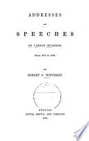 Addresses and Speeches on Various Occasions: 1878-1886