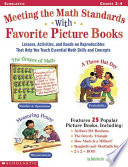 Meeting the Math Standards with Favorite Picture Books Book